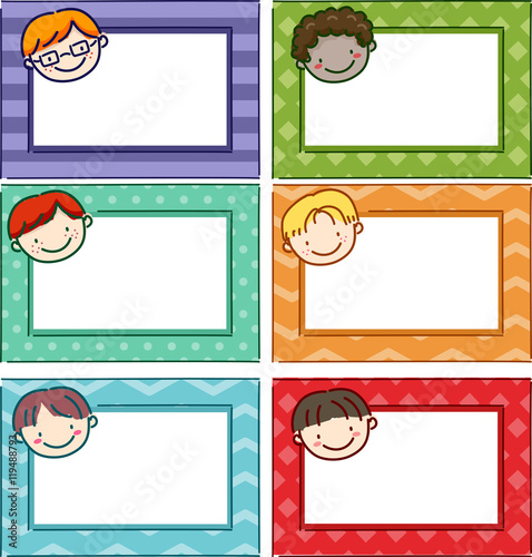 "Boys Premium Name Labels: ""Stickman Kids Name Tag Boys"" Stock Image And Royalty-free"