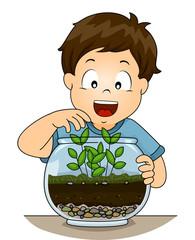 Kid Boy Botany Terrarium