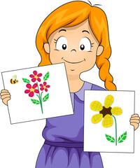 Kid Girl Flower Craft
