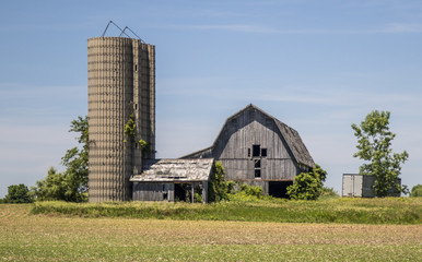 Old Barn with Silos