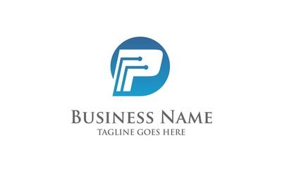 P Techno - Letter Logo