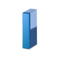 3d blue letter I