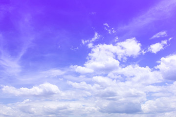 sky background blue with white clouds.