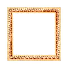 frame vintage blank picture frame wooden carved isolated on whit