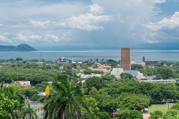 Managua view from Loma de Tiscapa. Managua capital of Nicaragua.