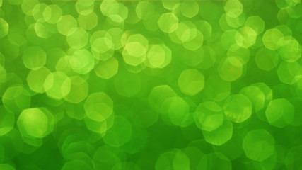 Blurred green bokeh abstract background