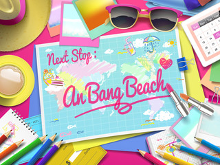 An Bang beach on map