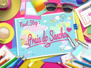 Praia do Sancho on map