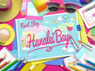 Hanalei Bay on map