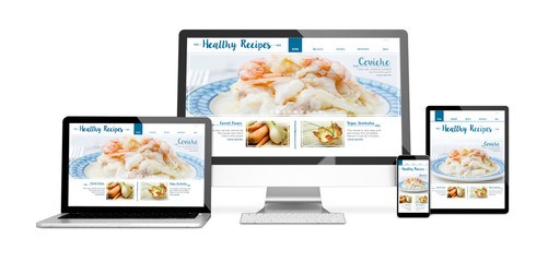 devices isolated mockup healthy recipes