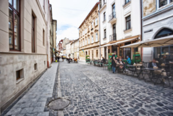 Old stone-paved street of the city