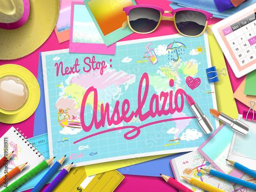 Anse Lazio on map\