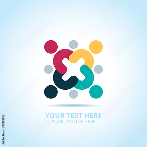 Abstract community logo design concept emblem icon flat abstract community logo design concept emblem icon flat logotype element for template stock image and royalty free vector files on fotolia pic sciox Images