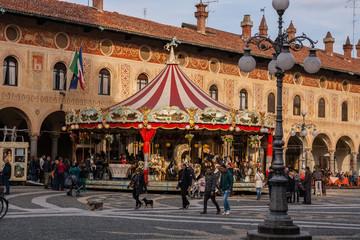 Piazza Ducale, Vigevano, Pavia, Lombardia, Italia