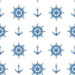 Marine pattern. Background for baby card, summer poster. Seamless pattern.