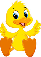 Cute baby duck cartoon thumb