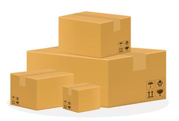 a brown cardboard box
