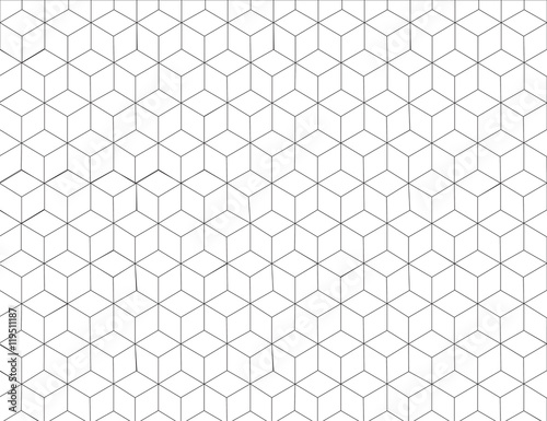 Hexagon Pattern Background In Grey Colour And Line Art Black White Design Modern Graphic
