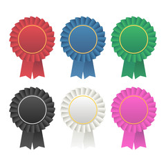 Vector rosette award ribbon medallion