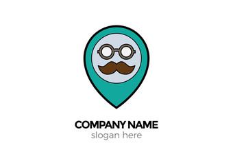 mustache vector logo