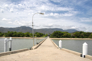 Perspective View up the Cardwell Jetty