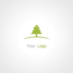 tree spruce vector logo
