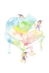 七色ピアノ、小人3人