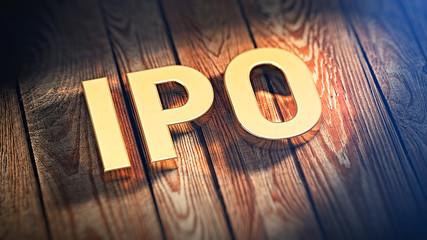 Acronym IPO on wood planks