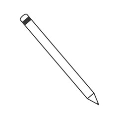 pencil tool write office draw object icon. Flat and isolated design. Vector illustration