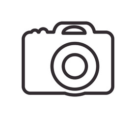 camera gadget device technology virtual  icon. Flat and isolated design. Vector illustration