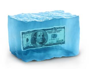 dollars on ice