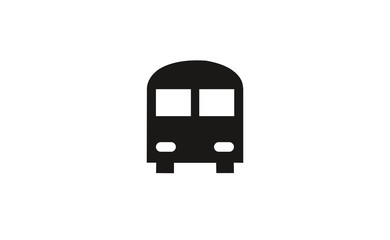 Vector bus transport icon on white background