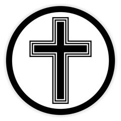 Religious cross button.