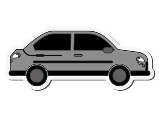 Car automobile transportation vehicle technology icon. Flat and isolated design. Vector illustration