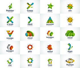 Vector abstract business logo collection