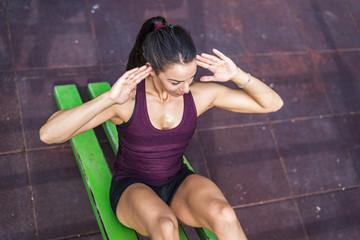 Woman having workout