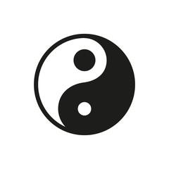 Yin Yang icon on white background