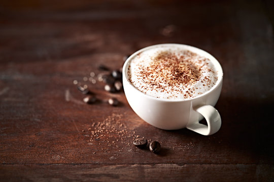 Cup of  Cappuccino with Cocoa