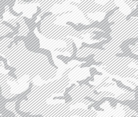 Halftone line camouflage repeat pattern in white