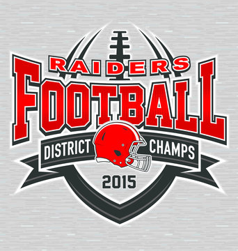 District champs football t-shirt graphic design