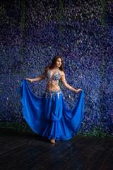 Belly Dancer in a blue dress
