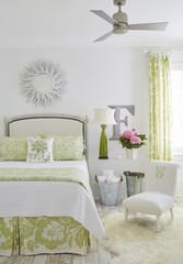 Interior of bedroom in luxury cottage