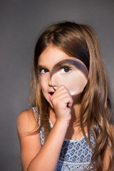 inspection girl optical eye