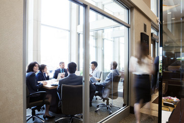 Business people planning during meeting in conference room