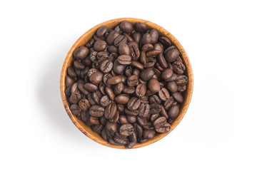Coffee Beans into a bowl