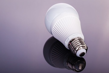 Led lightbulb on dark