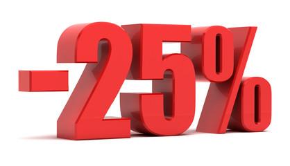 Fototapeta 25 percent discount 3d text obraz