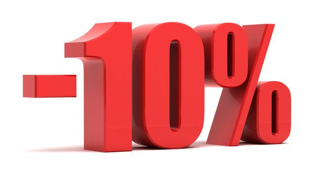 10 percent discount 3d text