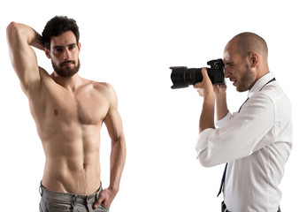 Shooting of a man model