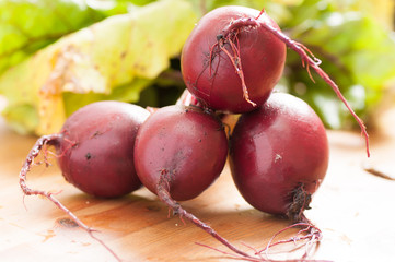 red healthy beets